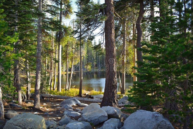 一点湖在高山脉 免版税库存图片