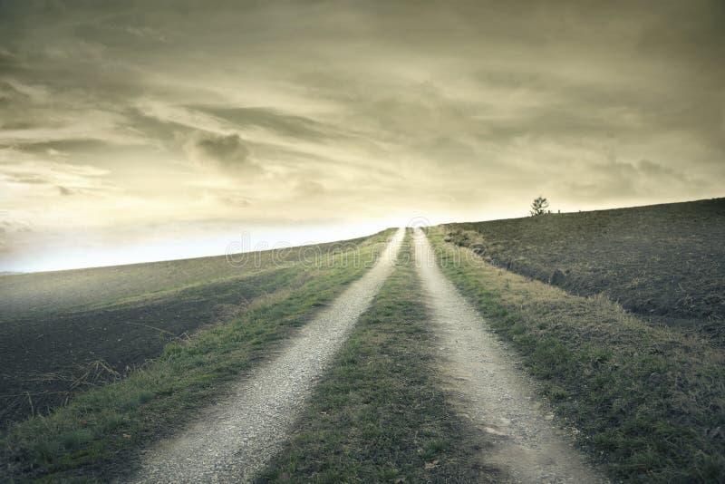 一点道路在乡下 免版税图库摄影