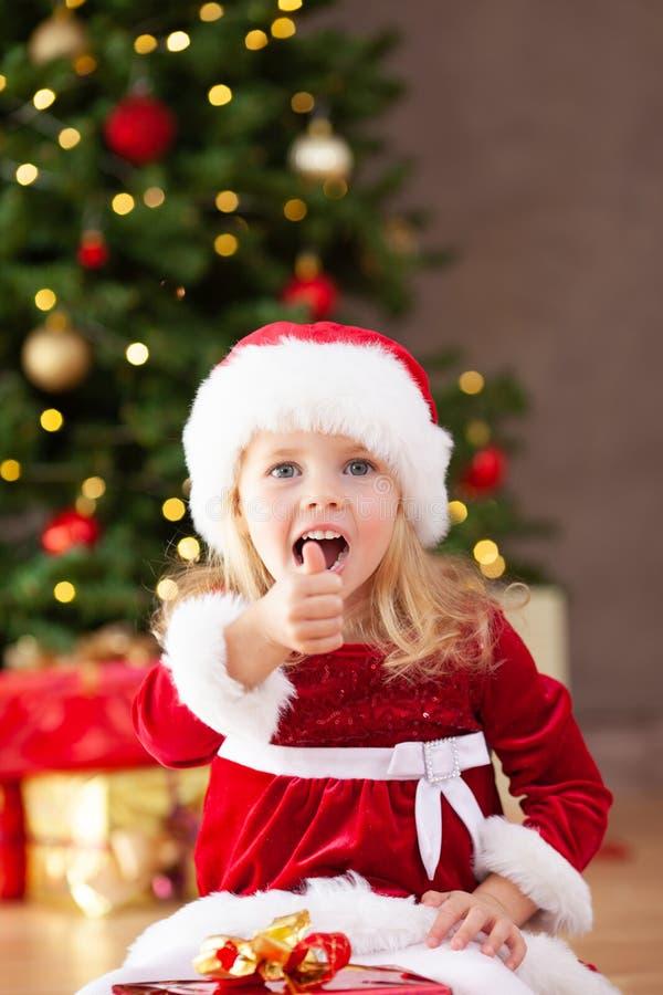 一点错过圣诞老人赞许和呼喊 免版税库存图片