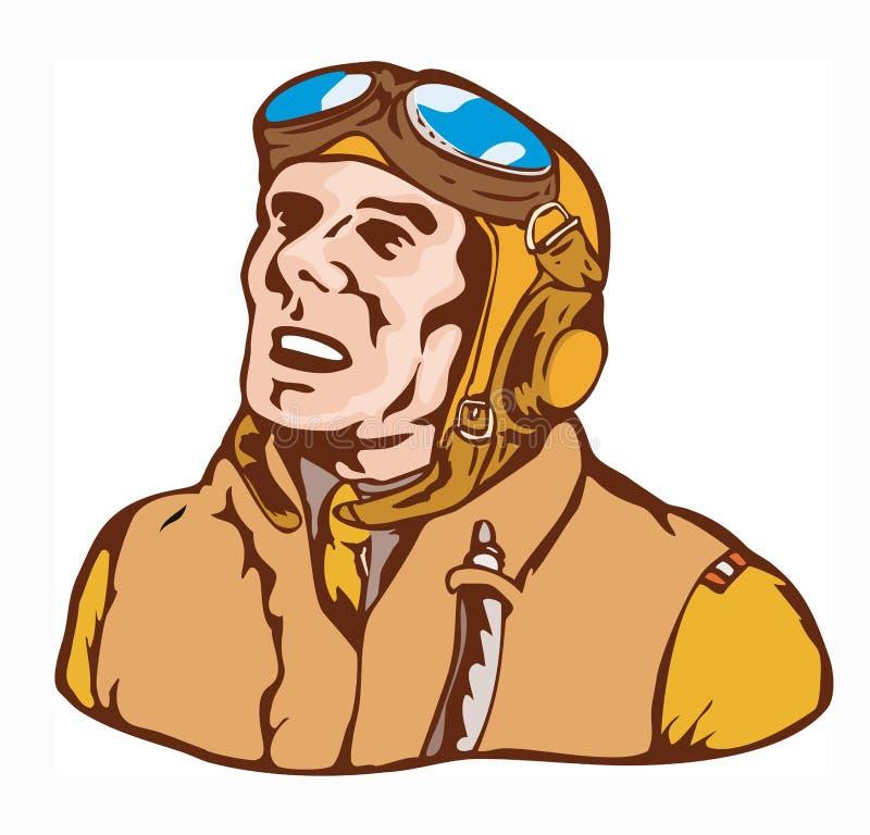 一点飞行员二战争世界 库存例证