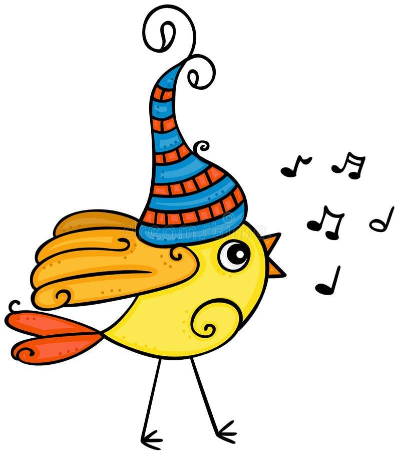 一点黄色鸟唱歌 库存例证
