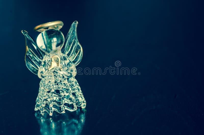 一点玻璃天使 库存照片