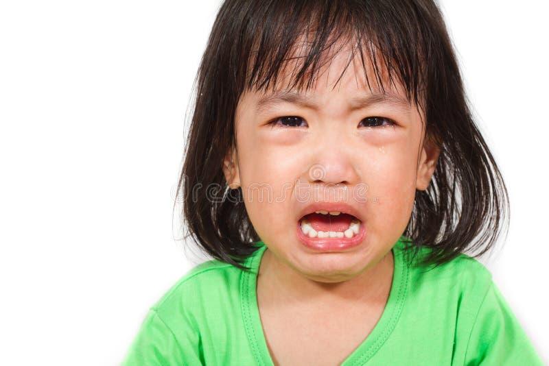 一点Asain中国哭泣 库存图片