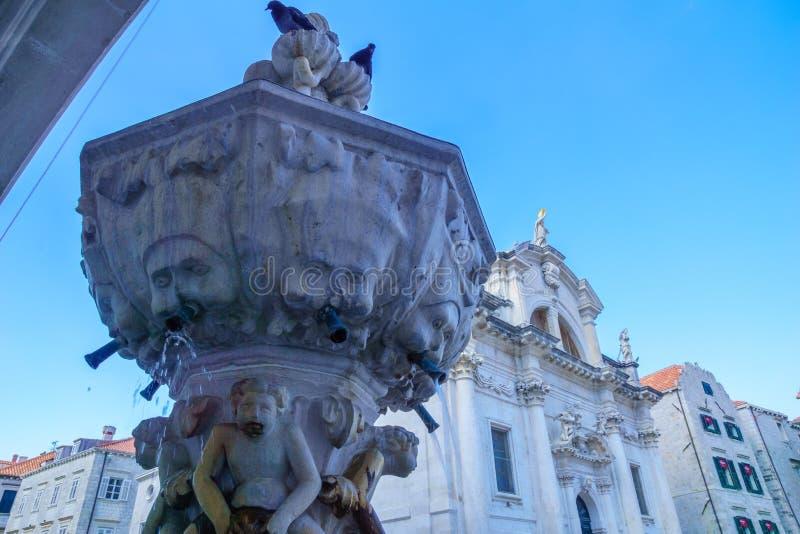 一点Onofrio的喷泉,杜布罗夫尼克 免版税库存照片