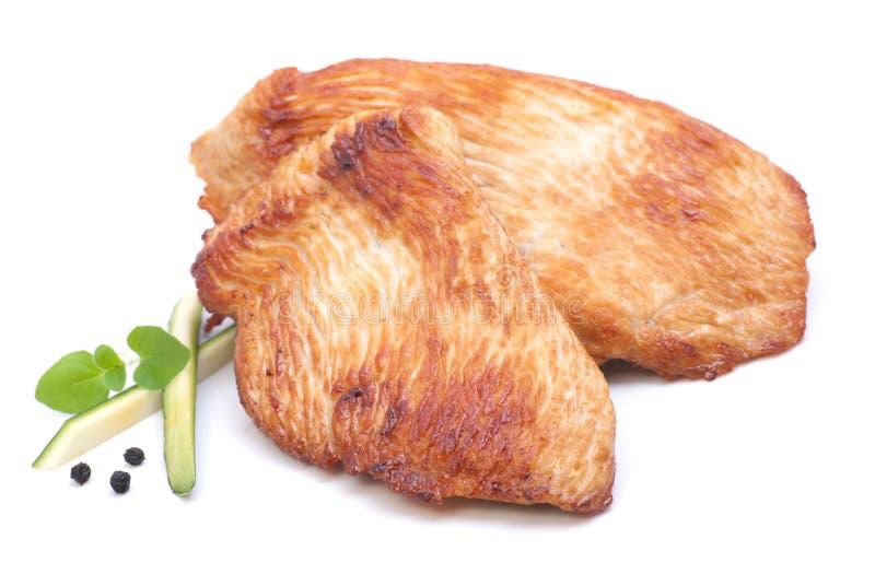 一片无骨的肉母鸡火鸡 免版税库存图片