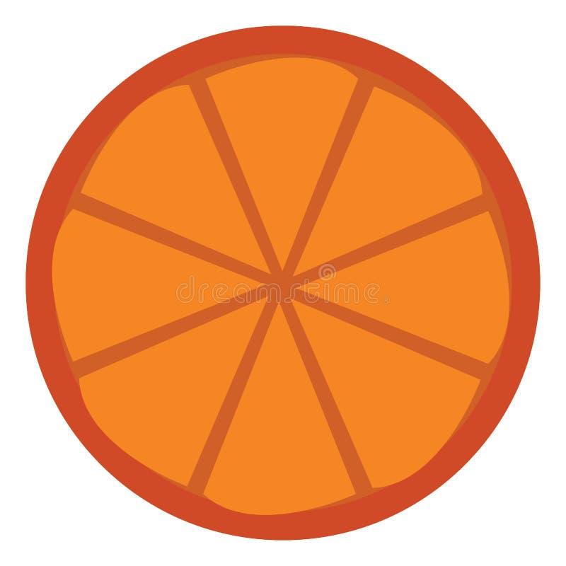 一片橙子,供某人画色或插图欣赏 库存例证