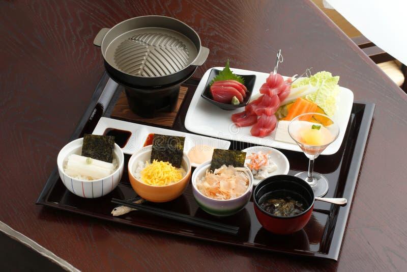 一特别日本盘子食物或bento 免版税图库摄影