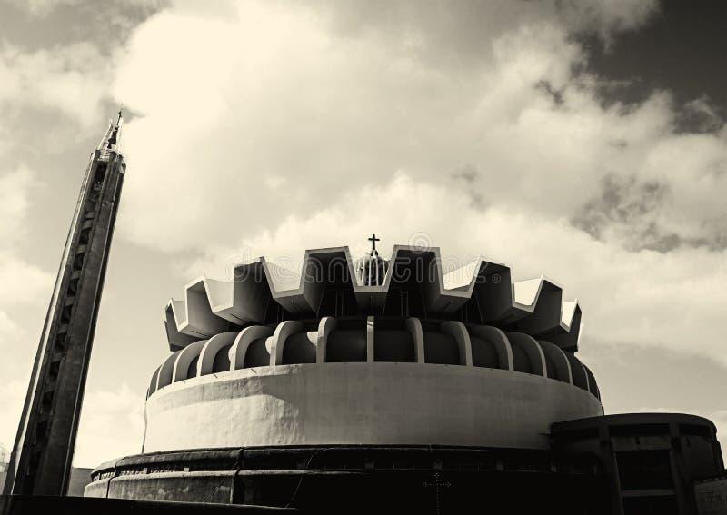 一现代圆形建筑 库存图片