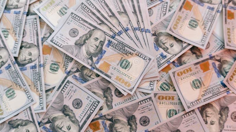 一百美元billsn纹理  免版税库存图片