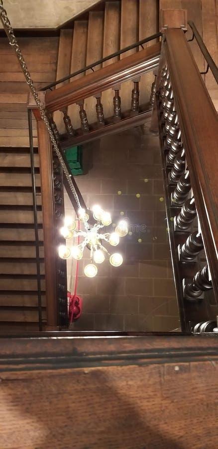 一盏枝形吊灯在博物馆在牛津 库存照片