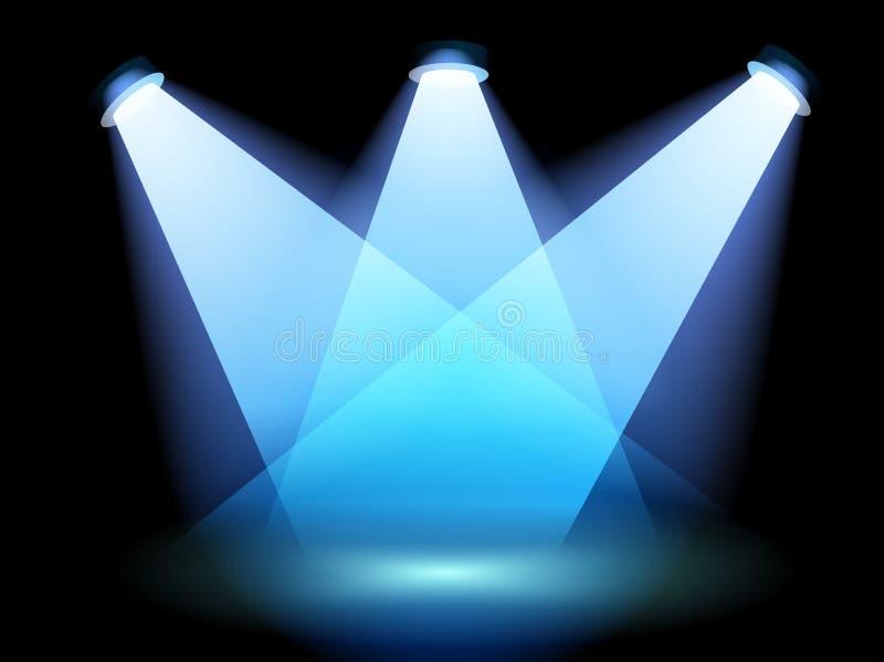 一盏聚光灯在阶段 皇族释放例证