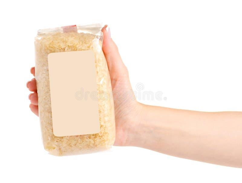 一盒米 免版税库存图片