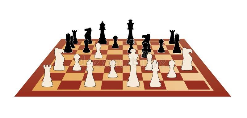 一盘象棋向量 皇族释放例证