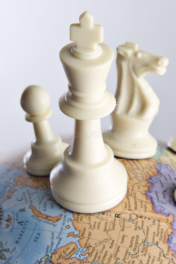 一盘象棋没有世界 图库摄影