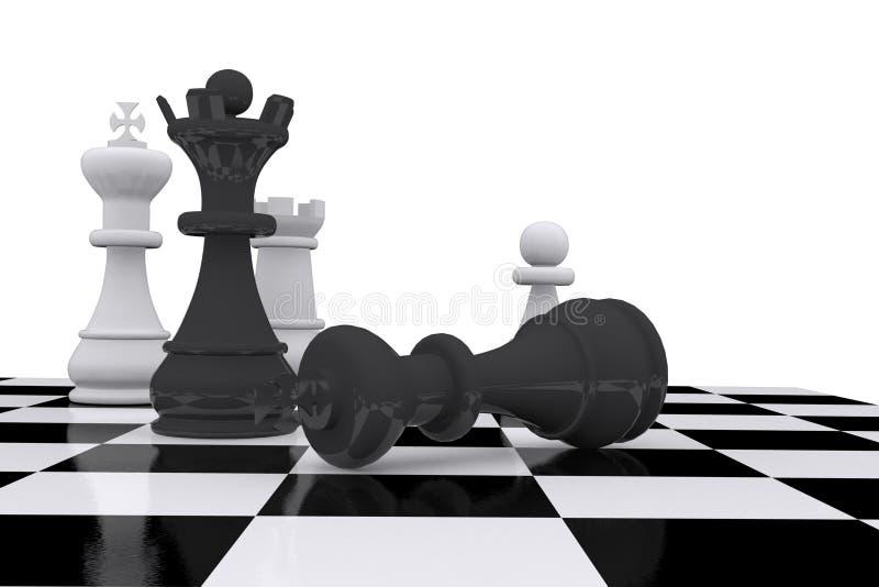 一盘象棋董事会 向量例证