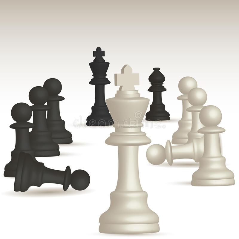 一盘象棋 皇族释放例证