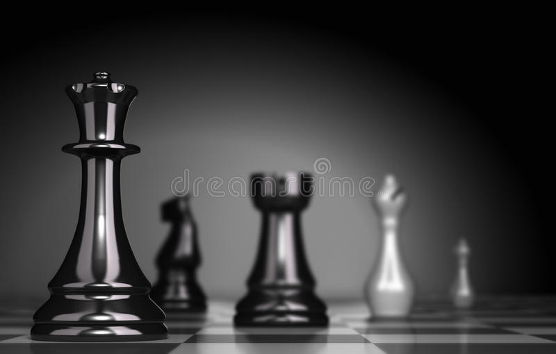 一盘象棋 向量例证