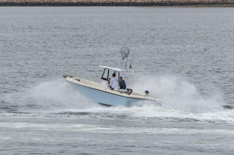 一瞬间概略的快速汽艇乘驾 库存图片