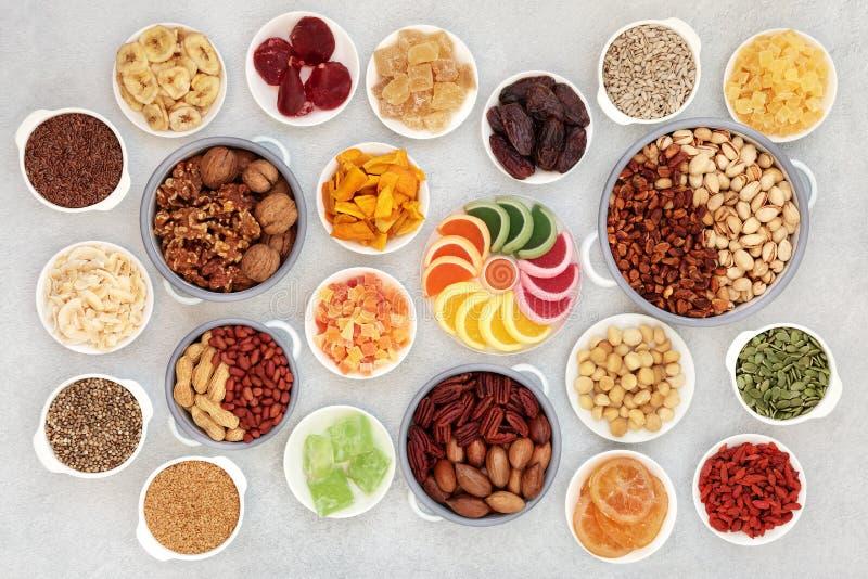 一种健康的素食干果坚果和种子 库存图片