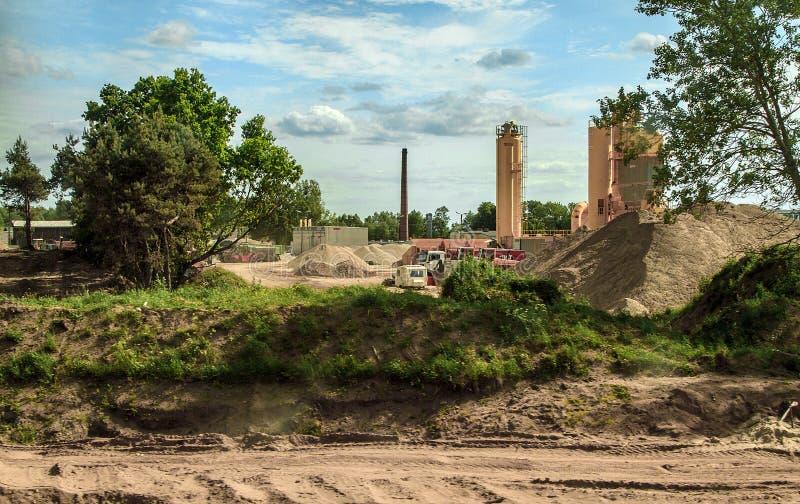 一种工业设施的建筑 图库摄影