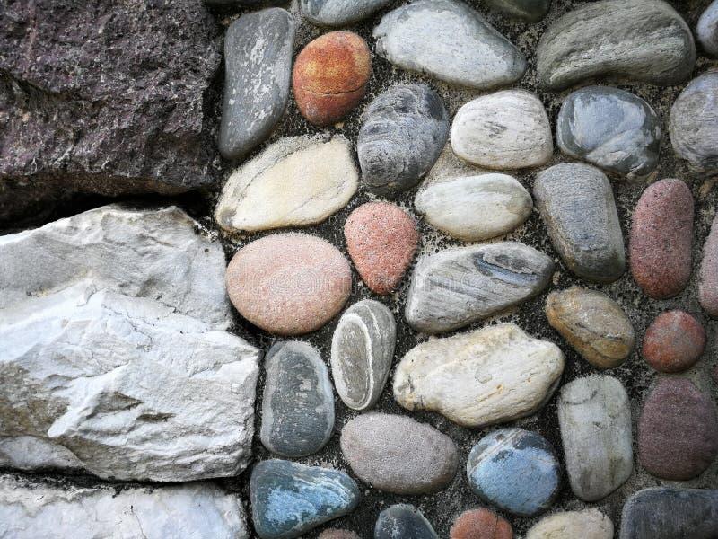 一种石多种颜色 库存图片