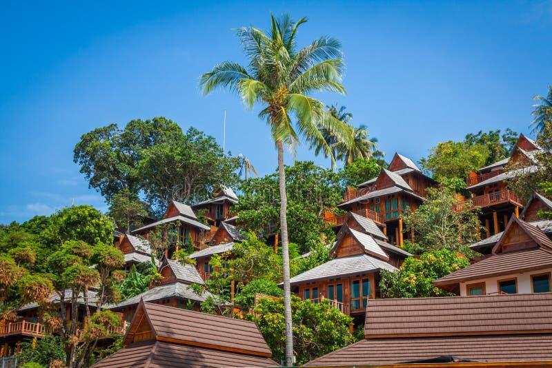 一种豪华手段在披披岛,一个热带泰国海岛 库存图片