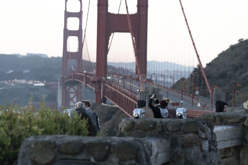 一种金黄吸引力在旧金山 图库摄影