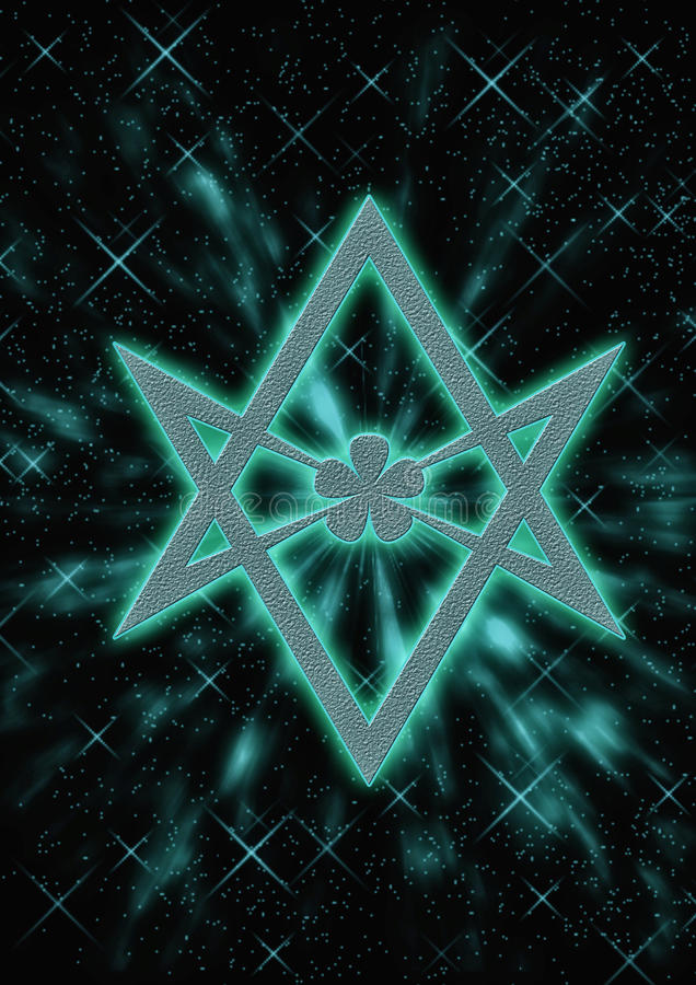 一笔画六角星形 库存例证