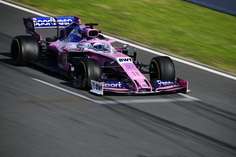 一级方程式赛车测试 库存照片