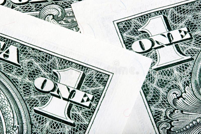 一美元在宏指令详述 被堆积的射击 免版税库存照片