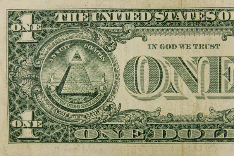 一美元钞票宏观射击  图库摄影