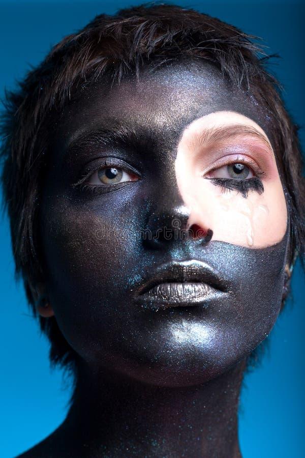 一美女的画象有创造性的,幻想构成 免版税库存照片