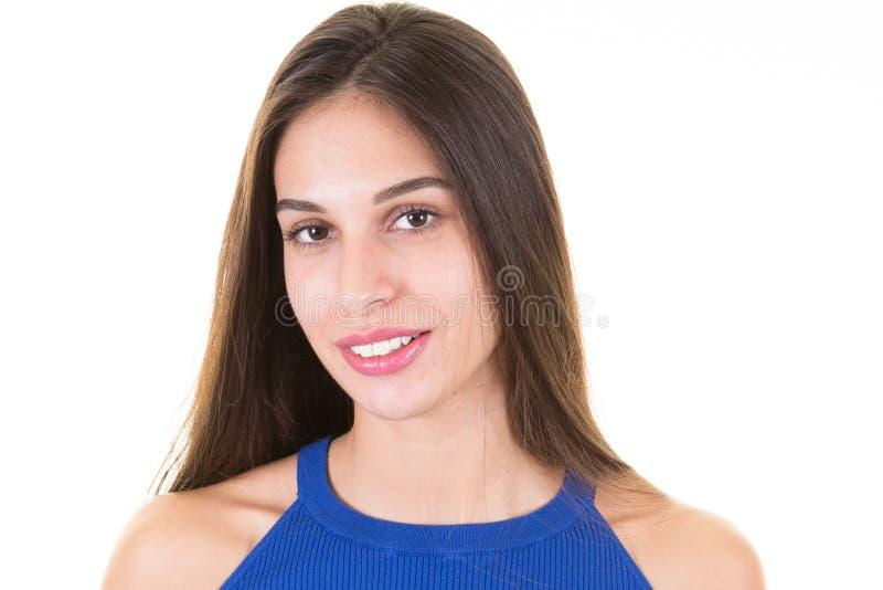 一美好拉丁妇女微笑 免版税库存照片
