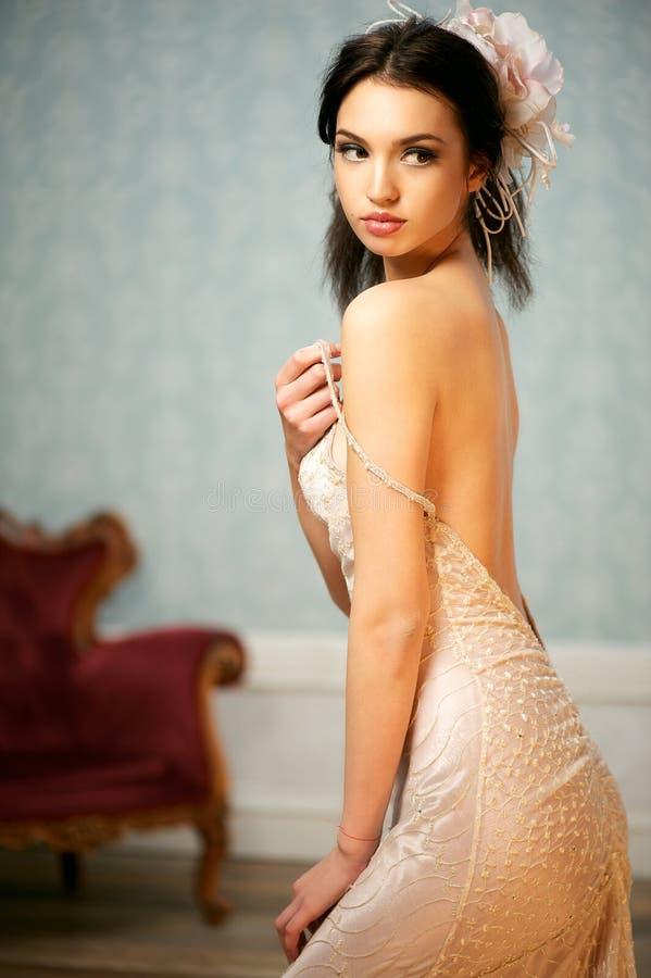一美好新娘扫视的纵向 库存照片