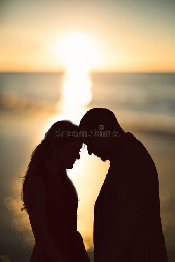一美好的天的日落的综合图象 免版税库存照片