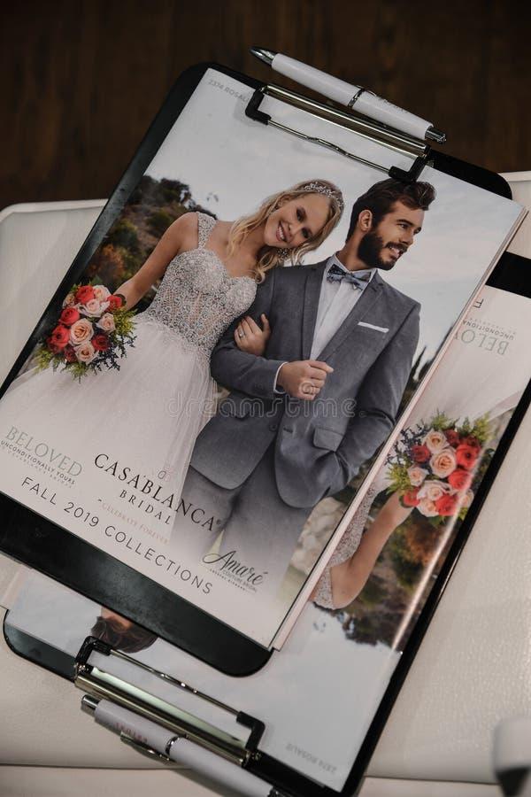 一般大气在卡萨布兰卡春天2020新娘时尚介绍时 图库摄影