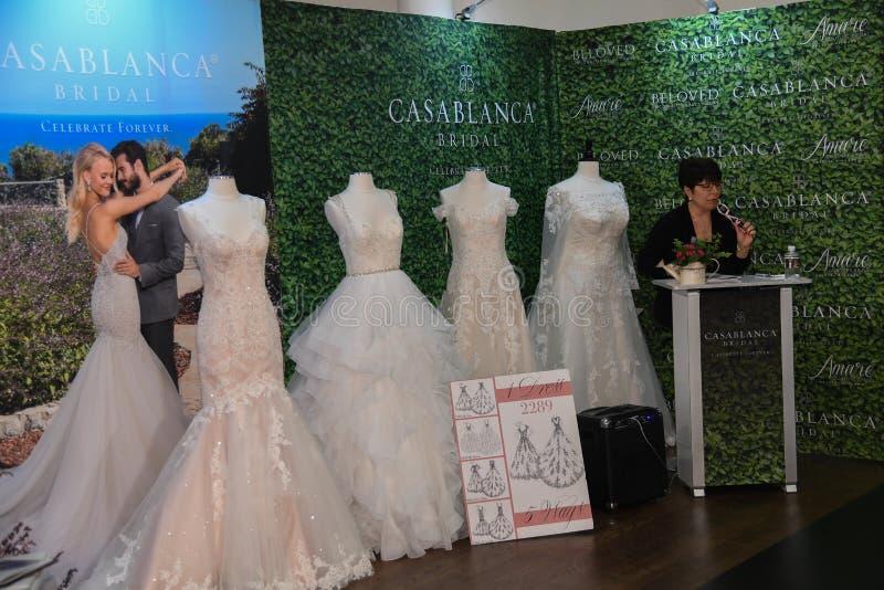 一般大气在卡萨布兰卡春天2020新娘时尚介绍时 免版税库存图片