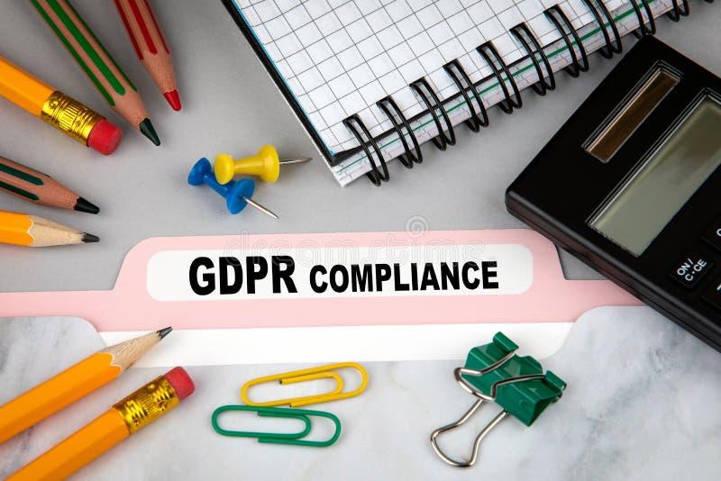 一般数据保护章程服从 库存图片