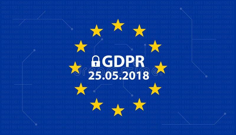 一般数据保护章程GDPR德国变化:Datenschutzverordnung DSGVO 皇族释放例证