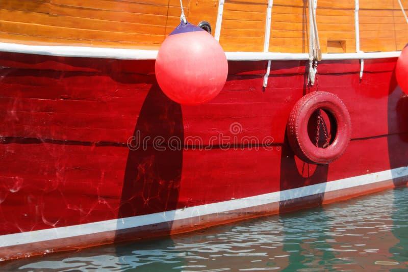 一艘美丽的大帆船的特写镜头 免版税库存图片