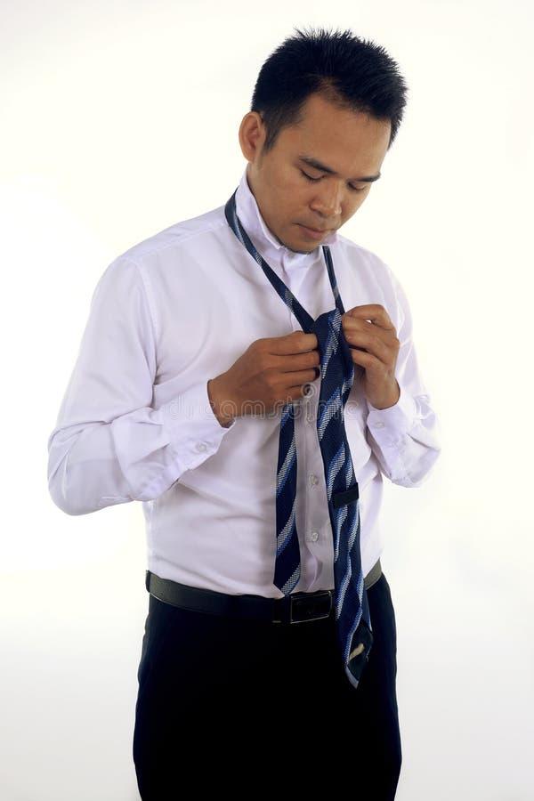 一英俊的有吸引力的年轻亚洲商人dre的照片图象 免版税库存照片