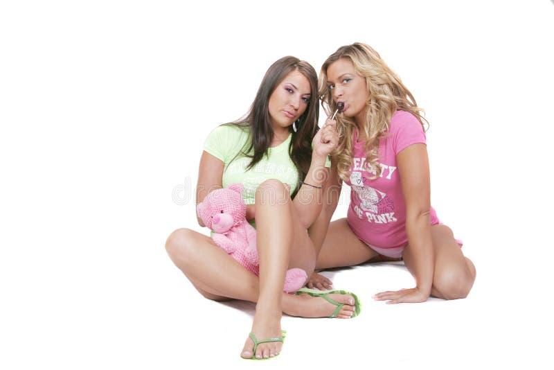 一起二名妇女 免版税库存照片