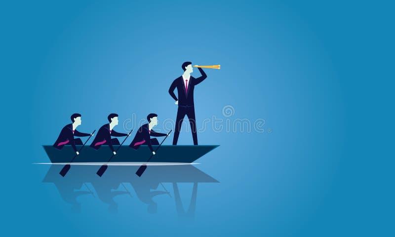 一起到达成功的企业配合 向量例证