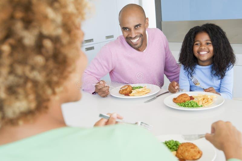 一起吃系列膳食进餐时间 库存照片