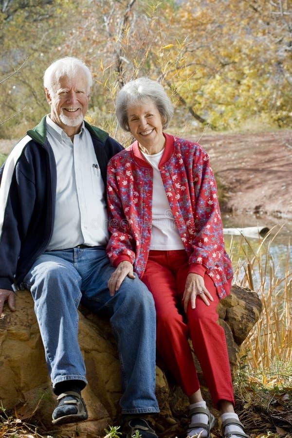 一起夫妇前辈 免版税库存照片