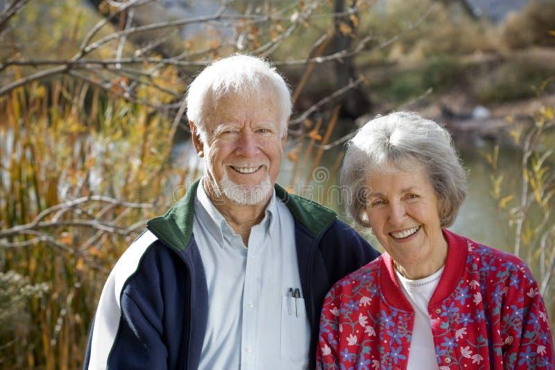 一起夫妇年长的人 库存照片