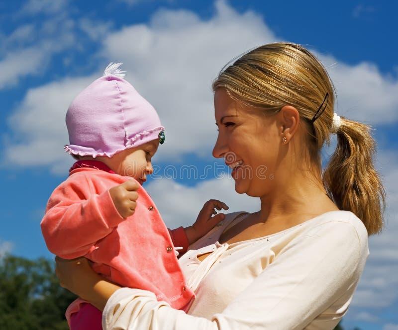 一起女儿妈妈 图库摄影