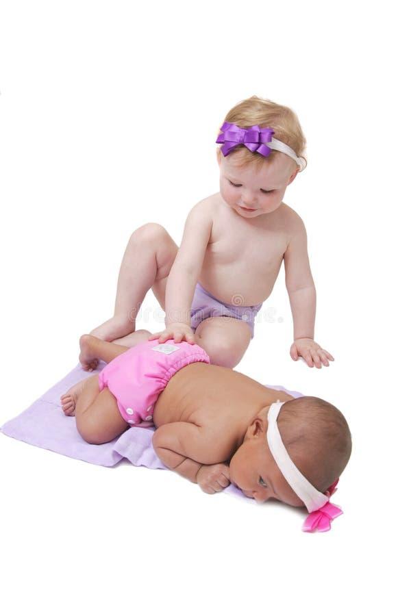 一起婴孩 库存照片