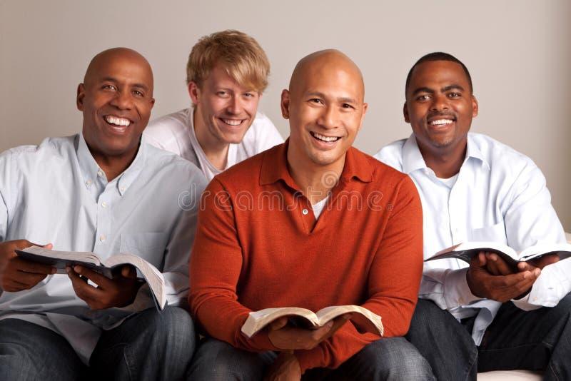 一起学习不同的小组的人 库存照片