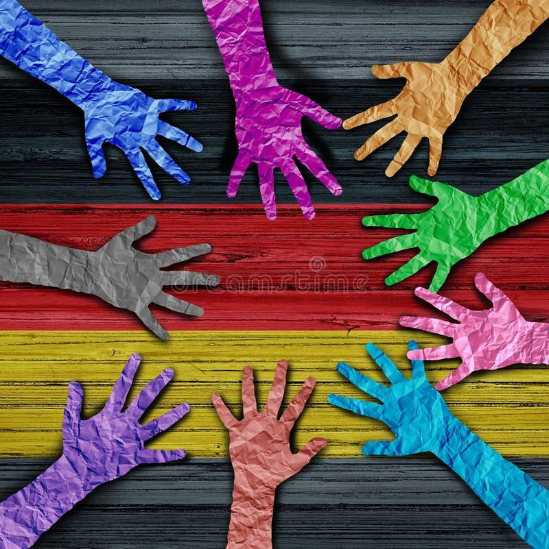 一起德国变化人民 向量例证